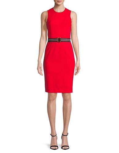 Marella Ovada Sleeveless Sheath Dress-RED-2