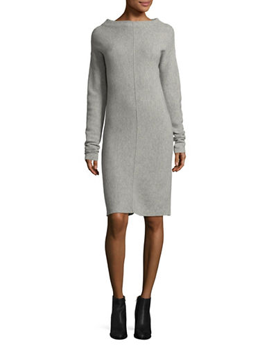 Marella Grillo Drop Shoulder Sweater Dress-GREY-X-Large 89518109_GREY_X-Large