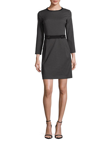 Marella Beauty Tie-Front Sheath Dress-BLACK-10