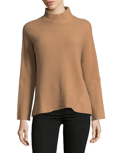Marella Gene Dolman Mock Neck Sweater-BROWN-Small
