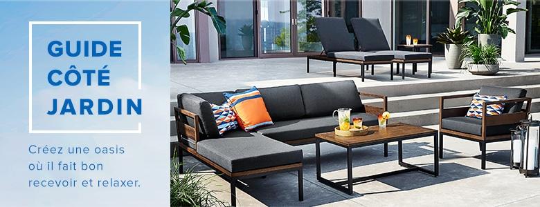 Mobilier de détente moderne avec chaises longues canapé et fauteuil assortis table basse en