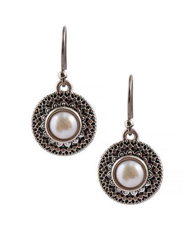 Lucky Brand Drop Earrings-SILVER-One Size