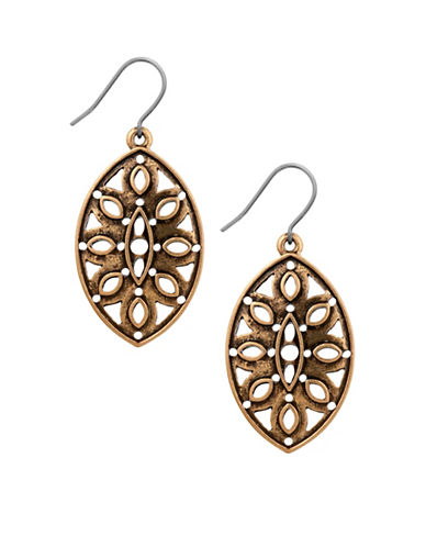 Lucky Brand Goldtone Openwork Earrings-GOLD-One Size