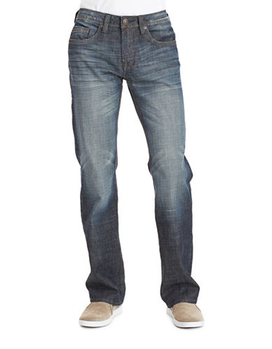 Buffalo David Bitton Travis X Basic Relaxed Stretch Jeans-INDIGO-30X34