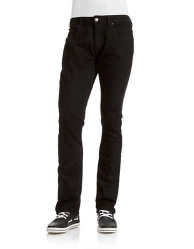Buffalo David Bitton Max X Slim Fit Jeans-BLACK-30X32