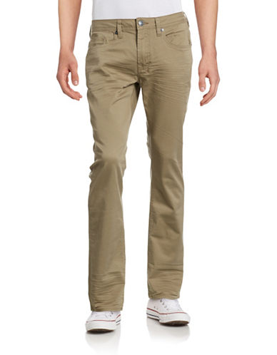 Buffalo David Bitton Six-X Slim Straight Stretch Jeans-TAN-34X32