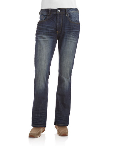 Buffalo David Bitton King-X Slim Boot Jeans-BLUE-34X34