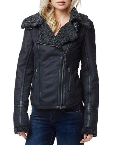 Buffalo David Bitton Norina Faux Shearling Jacket-BLACK-X-Large 87863060_BLACK_X-Large