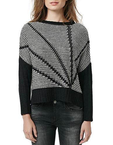 Buffalo David Bitton Patterned Knit Pullover Sweater-GREY-Large 88032317_GREY_Large
