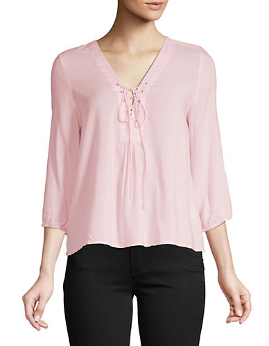 Buffalo David Bitton Buffalo David Bitton Maisie Woven Top-PINK-X-Small