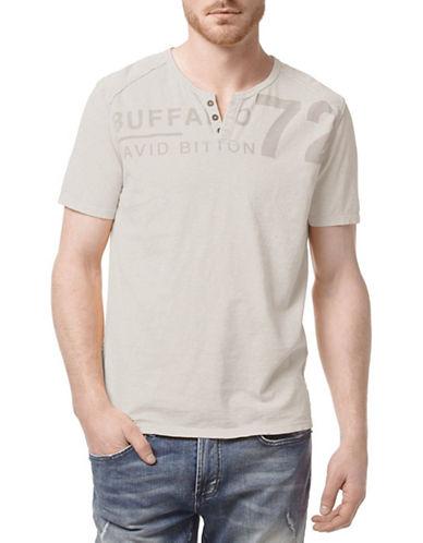 Buffalo David Bitton Raglan Henley T-Shirt-GREY-XX-Large 88294934_GREY_XX-Large