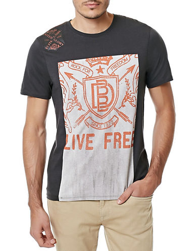 Buffalo David Bitton Crest Graphic T-Shirt-CHARCOAL-X-Large 88294346_CHARCOAL_X-Large