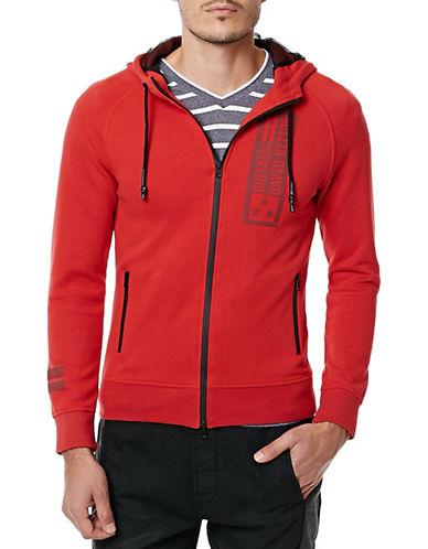 Buffalo David Bitton Long-Sleeve Fleece Hoodie-RED-Small 88576444_RED_Small