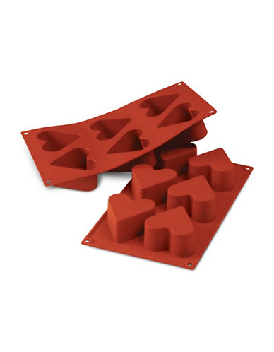 Silikomart Silicone Cuore Mould-TERRACOTTA-One Size