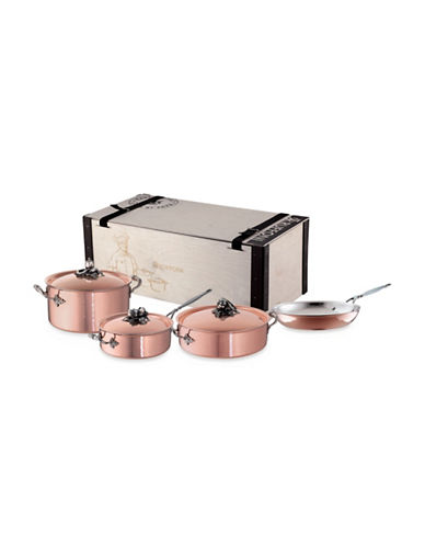 Ruffoni Ruffoni Copper Clad Seven-Piece Cookware Set-COPPER-One Size