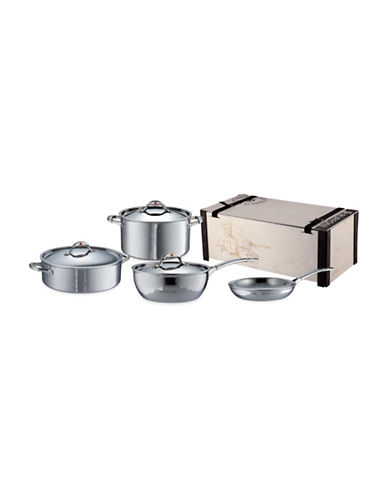 Ruffoni Symphonia Prima Stainless Steel Seven-Piece Cookware Set - Induction Ready-STAINLESS STEEL-One Size