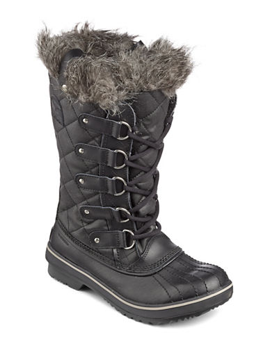Sorel Tofino Tall Boots with Faux Fur-BLACK-5