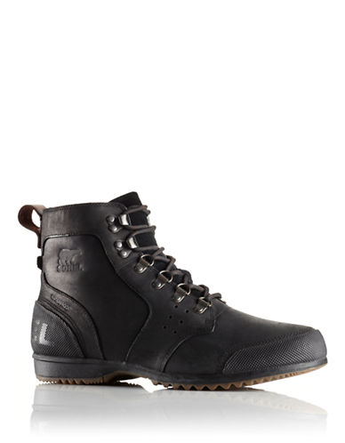 Sorel Ankeny Mid Hiker-BLACK-7.5