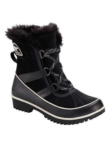 Sorel Tivoli II Boots with Faux Fur-BLACK SUEDE-5