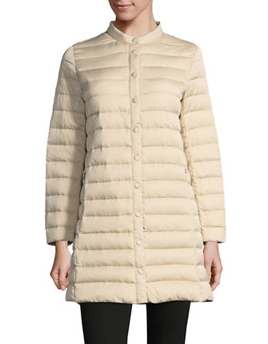 Weekend Max Mara Biglia Long Puffer Jacket-SAND-EUR 50/US 16