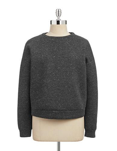 Weekend Max Mara Melange Scuba-Look Jersey Sweater-GREY-X-Large 87748512_GREY_X-Large
