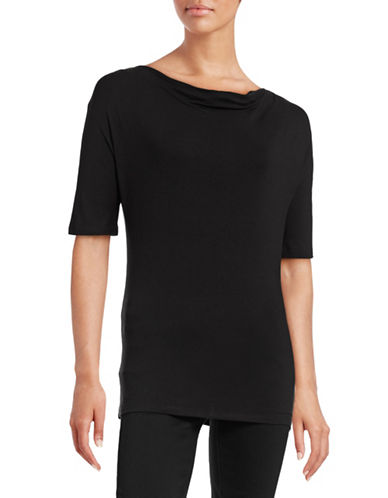 Weekend Max Mara Cowl Neck Knit Blouse-BLACK-X-Small 88547766_BLACK_X-Small