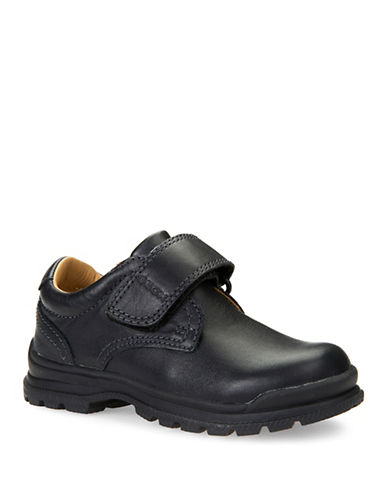 Geox J William Leather Shoes-BLACK-11