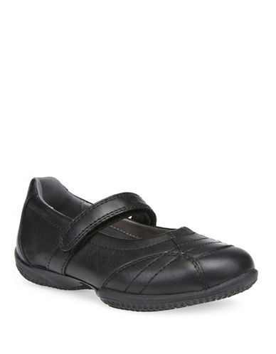Geox J Eurphory C Mary Jane Leather Shoes-BLACK-3