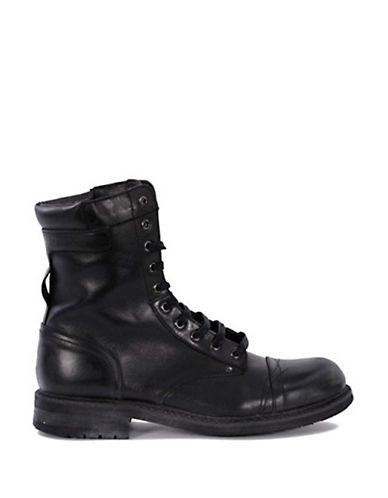 diesel black leather cassidy boots modesens