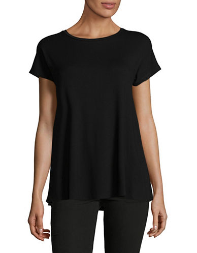 Weekend Max Mara Multia Jersey Top-BLACK-X-Small