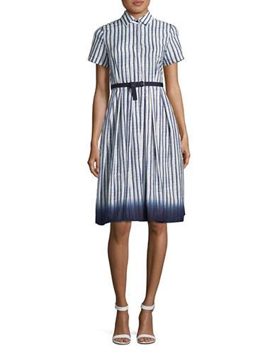 Weekend Max Mara Gabarra Belted Shirt Dress-ULTRAMARINE-EUR 36/US 2