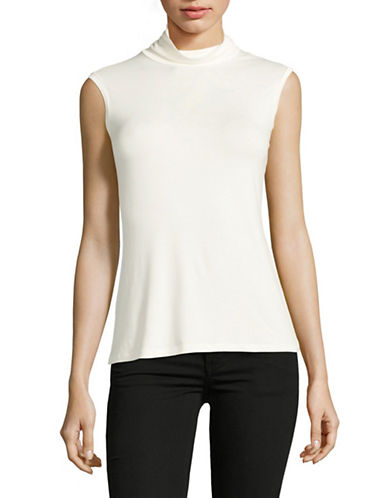 Weekend Max Mara Multic Sleeveless Jersey Top-WHITE-X-Small