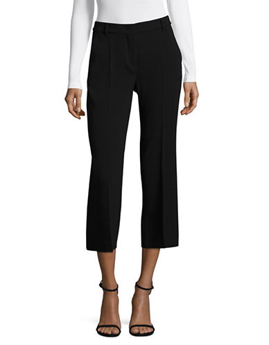 Max Mara Studio Crop Straight Leg Rabat Trousers-BLACK-EUR 44/US 10
