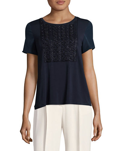 Weekend Max Mara Teti Beaded Jersey Top-ULTRAMARINE-X-Large