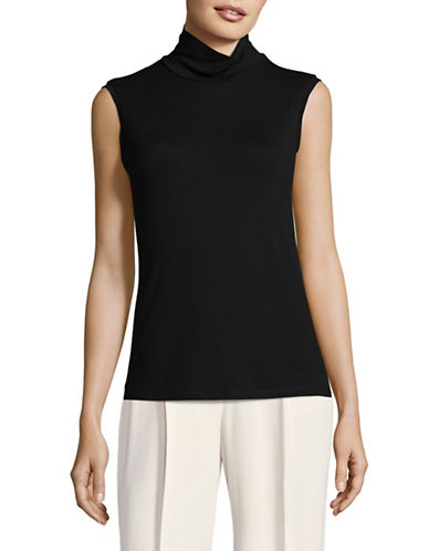 Weekend Max Mara Multic Sleeveless Jersey Top-BLACK-Large
