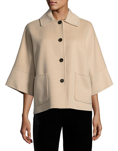 Weekend Max Mara Juditta Double-Faced Virgin Wool Coat-BEIGE-EUR 44/US 10