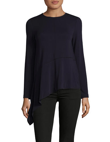 Max Mara Studio Sarta Draped-Hem Top-ULTRAMARINE-Medium