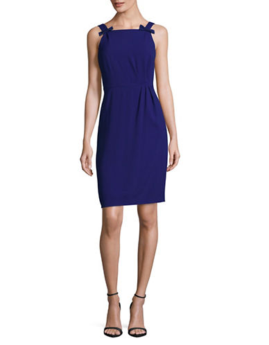 Weekend Max Mara Crepe Sheath Dress-BLUE-EUR 36/US 2