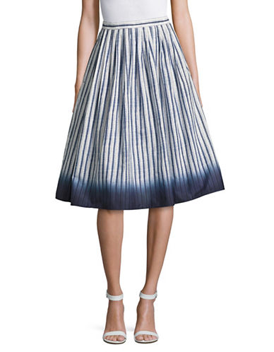 Weekend Max Mara Harden Pleated Shibori Skirt-ULTRAMARINE-EUR 46/US 12