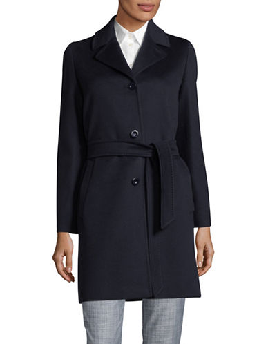 Weekend Max Mara Wool Car Coat-NAVY-EUR 42/US 8