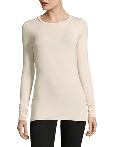 Weekend Max Mara Long Sleeve T-Shirt-SAND-X-Small