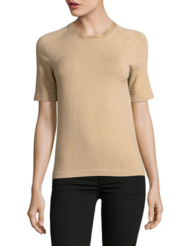 Weekend Max Mara Theodor Metallic Trim Sweater-BEIGE-XX-Large