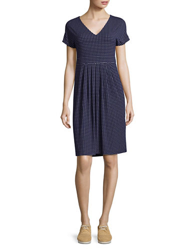 Weekend Max Mara Diamond Print T-Shirt Dress-ULTRAMARINE-Medium