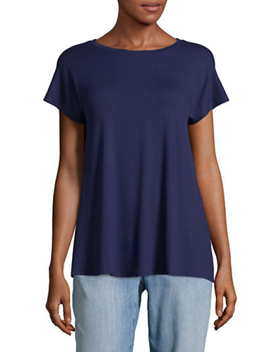 Weekend Max Mara Multia Jersey Top-BLUE-X-Large