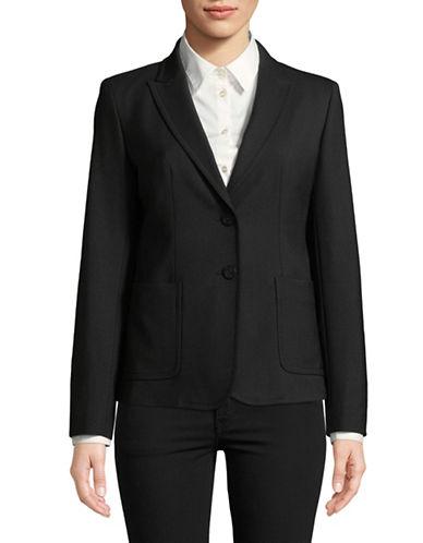 Weekend Max Mara Haiti Wool-Blend Jacket-BLACK-EUR 50/US 16