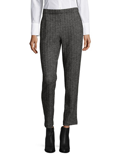 Weekend Max Mara Egeria Jersey Pants-BLACK MULTI-XX-Large