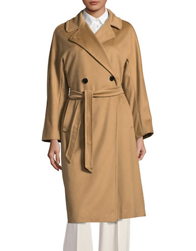 Weekend Max Mara Rostov Virgin Wool Trench Coat-BROWN-EUR 38/US 4