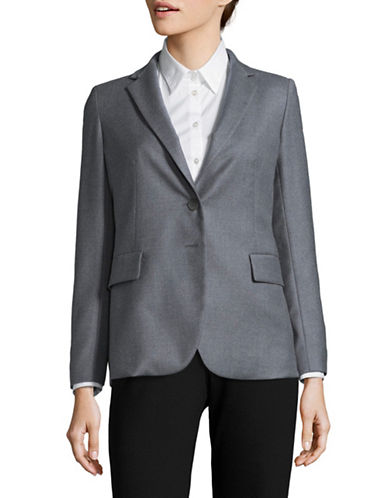 Max Mara Studio Sella Jacket-GREY-EUR 44/US 10