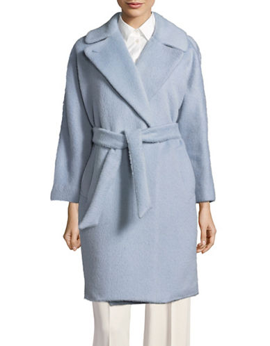 Weekend Max Mara Wool-Alpaca Car Coat-BLUE-EUR 42/US 8