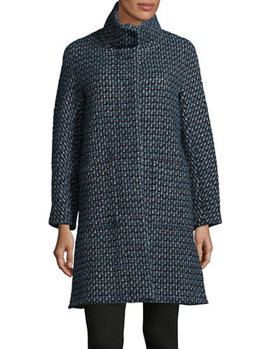 Weekend Max Mara Canon Virgin-Wool and Mohair Coat-BLUE-EUR 38/US 4